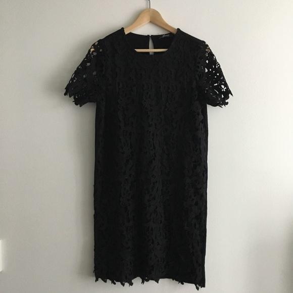 33c60441 Zara Dresses | Trafaluc Short Sleeve Shift Dress Lined | Poshmark